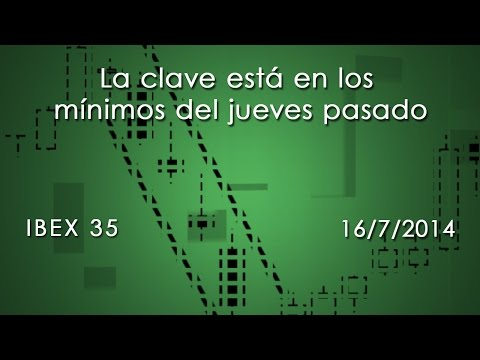 Video Análisis técnico Ibex35: La clave está en los mínimos del jueves pasado 16-07-14