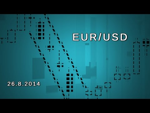 Video Analisis: El euro contra el dólar cada vez más cerca del soporte de los 1,31 26-08-14