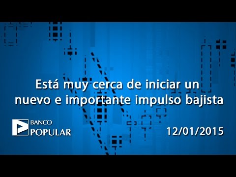Vídeo análisis técnico Banco Popular: cerca de iniciar un nuevo e importante impulso bajista 12-01-15