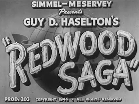 """1940's Logging and Sawmill Operation in America - """"Redwood Saga"""""""