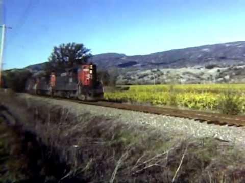 California Railroads in the 1980's