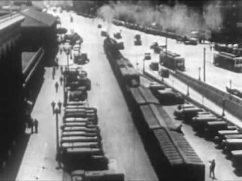 San Francisco Streetcars & The Belt Line Railroad - 1920's American City Street Scenes