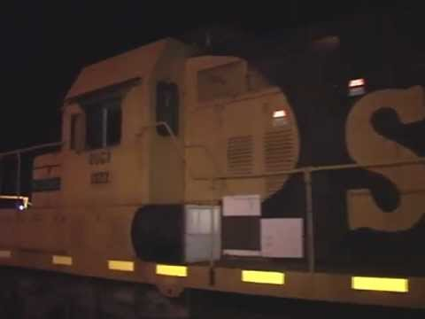 NWPCO delivers 4 flats to Standard Structures at night two engines