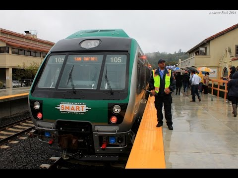 SMART in San Rafael: The First Passenger Train In 54 Years!
