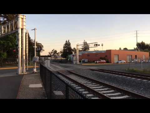 SMART Test Trains at Santa Rosa Railroad Square