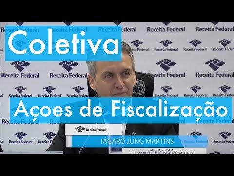 RFB - Coletiva - Ações de fiscalização - 1º semestre de 2017