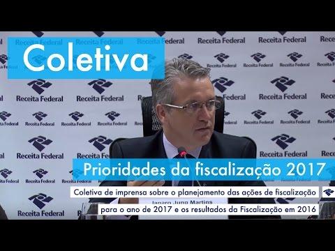 Coletiva - Plano de ações da Fiscalização da Receita Federal para 2017