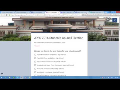 AYC students council election page