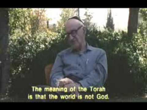 Yeshayahu Leibowitz  fala sobre a criação  do Mundo Genesis