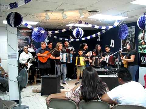Houston Accordion Performers Students Performing La Mucura