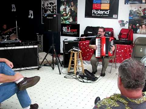 Steve Albini Performing at the Roland Workshop Aug 2 at Houston Accordion Performers