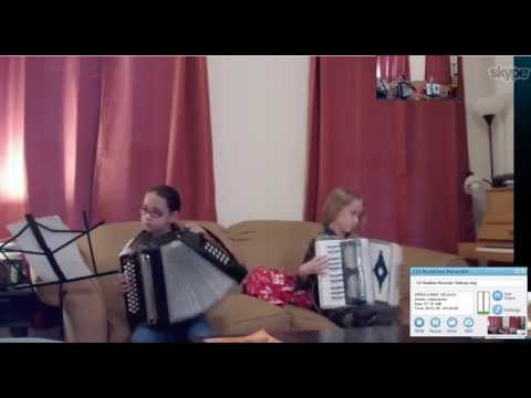 This is an accordion lesson using Skype for a lesson on 051914