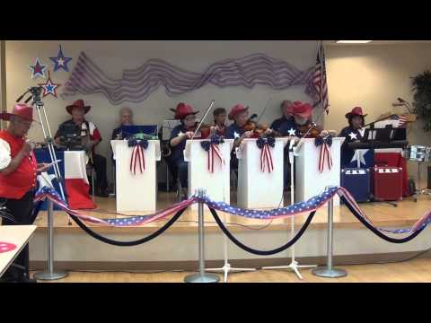 Military Medley being played at a 4th of July celebration