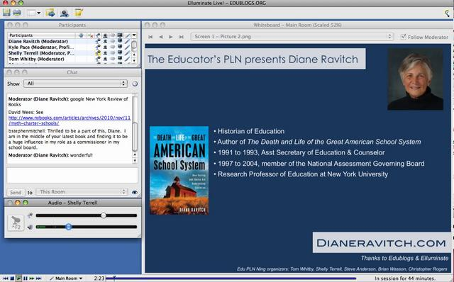 Diane Ravitch Live Chat via the Edu PLN Ning