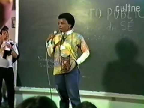 Luiza Bairros no VIII Encontro Feminista Latino Americano e do Caribe (1985)