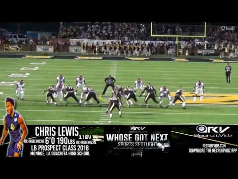 Chris Lewis LB Ouachita High School 2016 Highlights