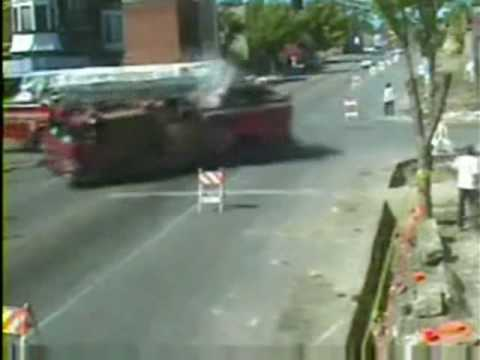 FIRE TRUCKS COLLIDE