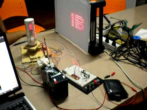 Projetor de texto com lasers