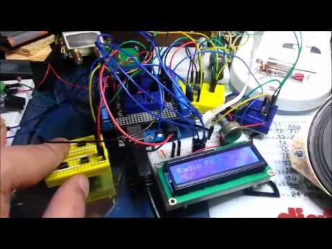 Radio FM - TEA5767 - Amplificador - VuMeter e LCD - Parte 4