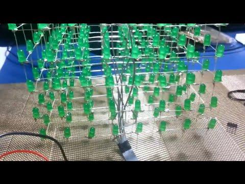 Cubo de Leds 8x8x8 - Construção