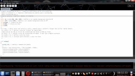 Joystick + motores de passo + processing + arduino