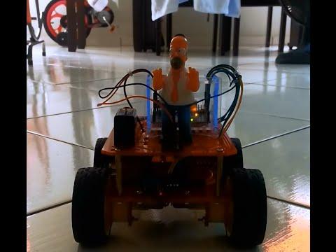 Chassi 4 WD controlado por Arduino (com 2 pontes H e 2 suporte de pilhas) via controle remoto