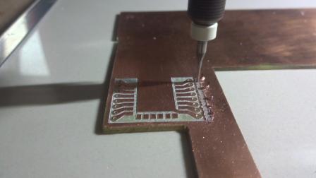 Fresando PCB Fase5 Cortando