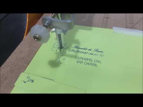 CNC Plotter de caneta + Mini Laser para Moldes.