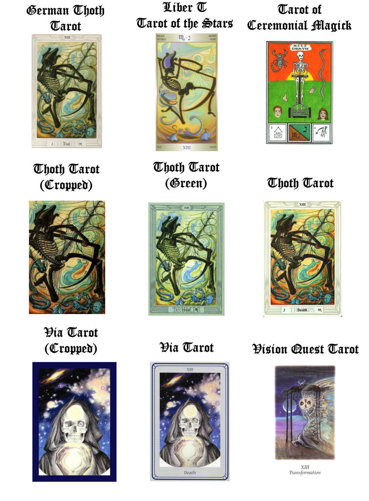 Thoth-Crowley Style Deck Tarot Death Cards - PaganSpace net
