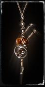 """keltische Rune """"Fehu"""" mit Feuerachat"""