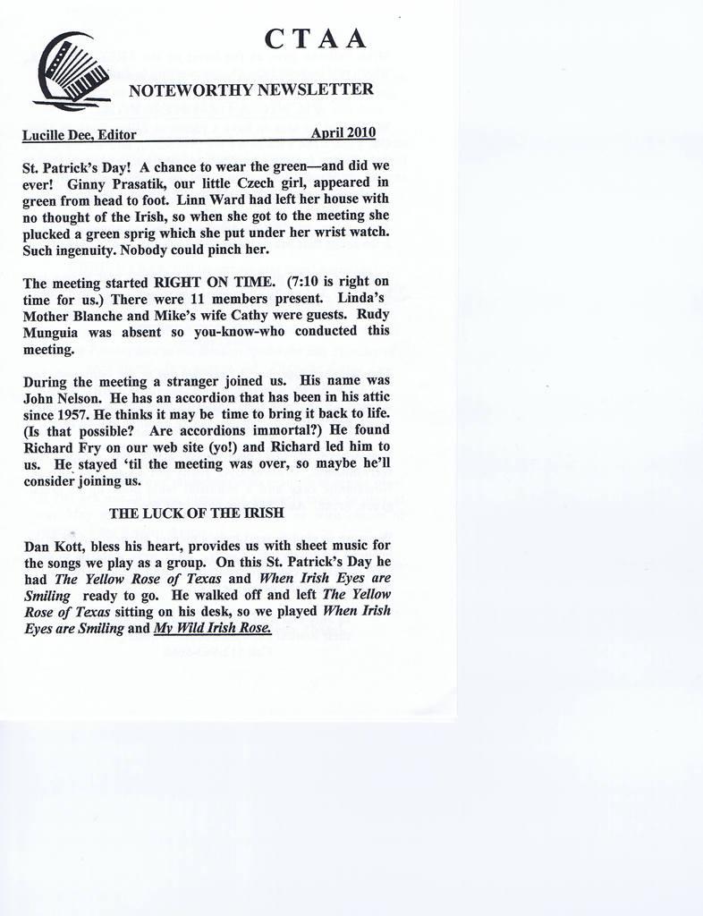 Daniel Kott's Blog - Texas Accordion Net