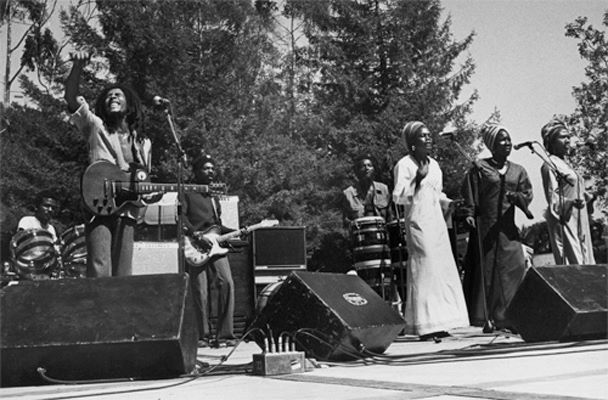 Donald Kinsey Touring with Bob Marley, Picture taken by Kim Gottlier-Walker