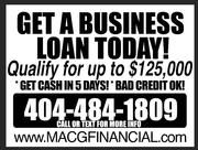 NEW BUSINESS LOAN PROGRAM!!