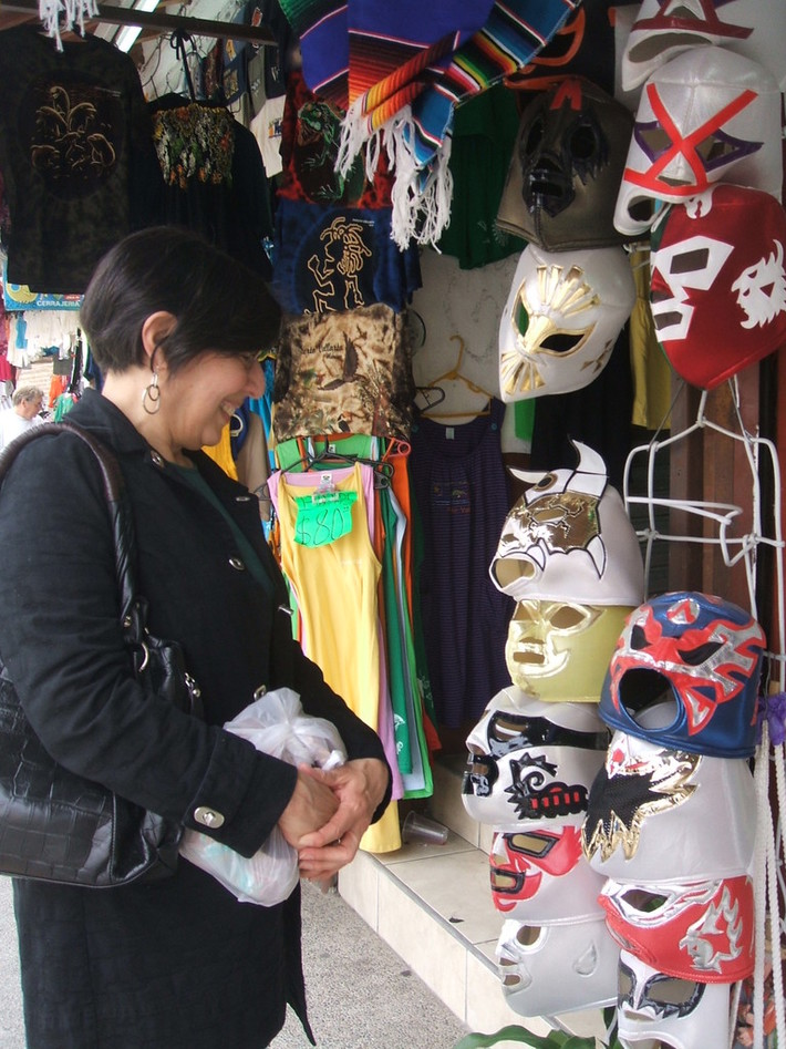 Sarah Cortez needs wrestling mask