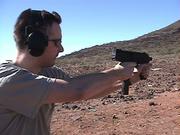 Steyr TMP in Arizona desert