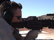 SAW machine gun in Arizona desert