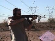 AK47 in the Arizona desert