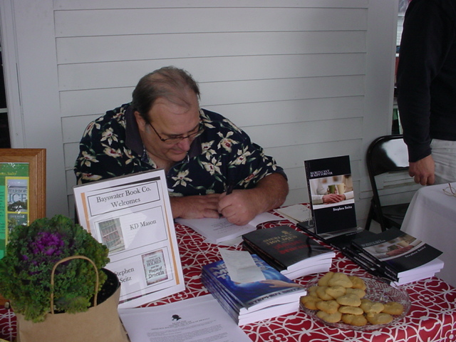 Signing Books at Bayswater Book Co.