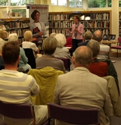 Pauline Rowson talking about her crime novels set in the Solent area Bognor Regis Library 20 May 2014