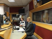 Pauline Rowson and DI Mandy Horsburghon the Katie Martin Show BBC Radio Solent August 2014 2