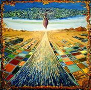 """#208 """"The road in view"""" 36"""" x 36"""" Oil on canvas"""