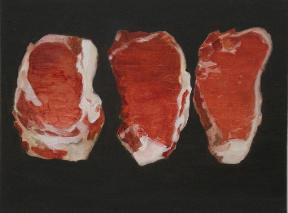 three steaks