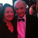 Janey with James Goodfellow OBE the man who invented the Pin Number