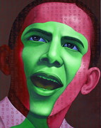 03[1]. a green for hope before obama 2008 190x150 acrylic on canvas