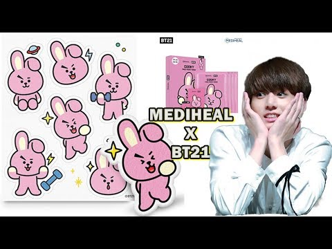 Mediheal - BTS BT21 Face Point Mask Set 리뷰 | Korean Skin care