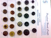 Eco-friendly natural material fashion buttons