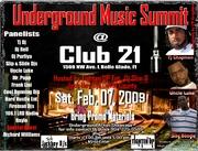 Underground MUSIC SUMMIT Feb. 7th