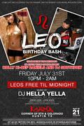 Leo Birthday Bash celebrating Southpaws and Holly Hi-Defs Bday