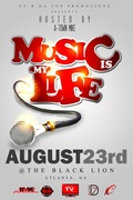 "TUES AUG 23RD ""MUSIC IS MY LIFE"" ARTIST SHOWCASE @THE BLACK LION~253 AUBURN AVE ATL!"