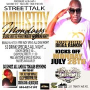 """MON 7/28 ALL NEW """"INDUSTRY MONDAYS"""" @SUEDELOUNGE  HOSTED BY BIGGA RANKIN, CRUM.COM @PBROWNLIVE"""